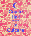 Copile Haii marsh la Culcare - Personalised Poster small