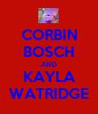 CORBIN BOSCH AND KAYLA WATRIDGE - Personalised Poster large