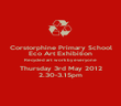 Corstorphine Primary School Eco Art Exhibition Recycled art work by everyone Thursday 3rd May 2012 2.30-3.15pm - Personalised Poster large