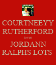 COURTNEEYY RUTHERFORD loves JORDANN RALPHS LOTS  - Personalised Poster large