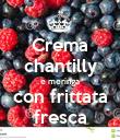 Crema chantilly e meringa con frittata fresca - Personalised Poster large