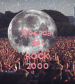 Década  del   ROCK 2000 - Personalised Poster large