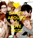 DANCE  AROUND AND LOVE  UKISS - Personalised Poster large