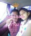 darshan  love  ritu   - Personalised Poster large