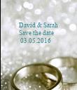 David & Sarah          Save the date    - Personalised Poster large