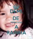 DEMI, DE  PRINCESA A RAINHA - Personalised Poster large