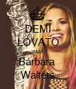 DEMI LOVATO AMA Bárbara  Walters - Personalised Poster large