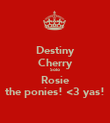 Destiny Cherry Solo  Rosie the ponies! <3 yas! - Personalised Poster large