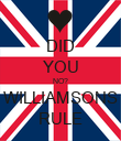 DID YOU NO? WILLIAMSONS RULE - Personalised Poster large