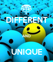 DIFFERENT  AND  UNIQUE - Personalised Poster large