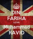 DINI FARIHA LOVE Muhammad RAVID - Personalised Poster large