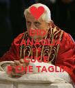 DIO CANAGLIA CHE  CUCE  E CHE TAGLIA - Personalised Poster large