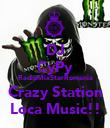 DJ CyPy RadioMixStarRomania Crazy Station Loca Music!! - Personalised Poster large