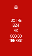 DO THE BEST AND GOD DO THE REST - Personalised Poster large