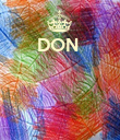 DON      - Personalised Poster large