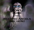 DON'T  BLINK THE WEEPING ANGELS ARE HERE! - Personalised Poster large