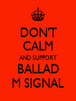 DON'T CALM AND SUPPORT BALLAD M SIGNAL - Personalised Poster large