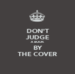 DON'T JUDGE A BOOK BY THE COVER - Personalised Poster large