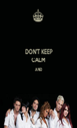 DON'T KEEP CALM AND   - Personalised Poster large