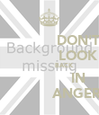 DON'T                 LOOK                 BACK                    IN                    ANGER  - Personalised Poster large