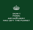 DON'T PANIC WHY ARTHUR DENT HAS LEFT THE PLANET - Personalised Poster large
