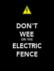 DON'T WEE ON THE ELECTRIC FENCE - Personalised Poster large