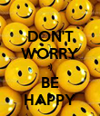 DON'T WORRY :) BE HAPPY - Personalised Poster large