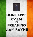 DONT KEEP CALM IT'S FREAKING LIAM PAYNE - Personalised Poster large