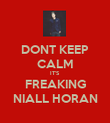 DONT KEEP CALM IT'S FREAKING NIALL HORAN - Personalised Poster large