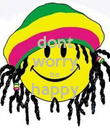 dont worry be happy  - Personalised Poster large