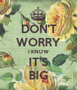 DON'T WORRY I KNOW IT'S BIG - Personalised Poster large