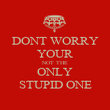 DONT WORRY YOUR NOT THE ONLY STUPID ONE - Personalised Poster large