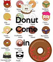 Donut Come  in  - Personalised Poster large
