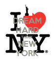 DREAM HARD THINK NEW YORK - Personalised Poster large