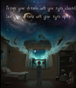 Dream your dreams with you eyes closed,  Live your dreams with your eyes open - Personalised Poster large