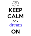 dream  - Personalised Poster large