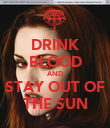 DRINK BLOOD AND STAY OUT OF THE SUN - Personalised Poster large