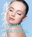 DRINK +NATURAL - Personalised Poster large