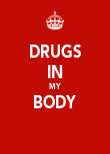 DRUGS IN MY BODY  - Personalised Poster large