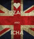 DZAKI  AND  ICHA - Personalised Poster small