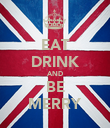 EAT DRINK AND BE MERRY - Personalised Poster large