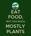 EAT FOOD, NOT TOO MUCH, MOSTLY PLANTS - Personalised Poster large