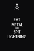 EAT METAL AND SPIT LIGHTNING - Personalised Poster large