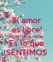 El amor es libre! No es lo que vemos Es lo que SENTIMOS - Personalised Poster large
