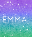 EMMA  - Personalised Poster large