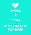 EMMA & ELENA BEST FRIENDS FOREVER - Personalised Poster large
