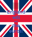 England will win the euros! - Personalised Poster small