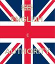 ENGLISH   E  AUTHORITY - Personalised Poster large