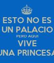 ESTO NO ES UN PALACIO PERO AQUI VIVE UNA PRINCESA - Personalised Poster large