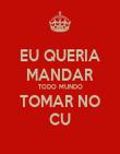 EU QUERIA MANDAR TODO MUNDO TOMAR NO CU - Personalised Poster large